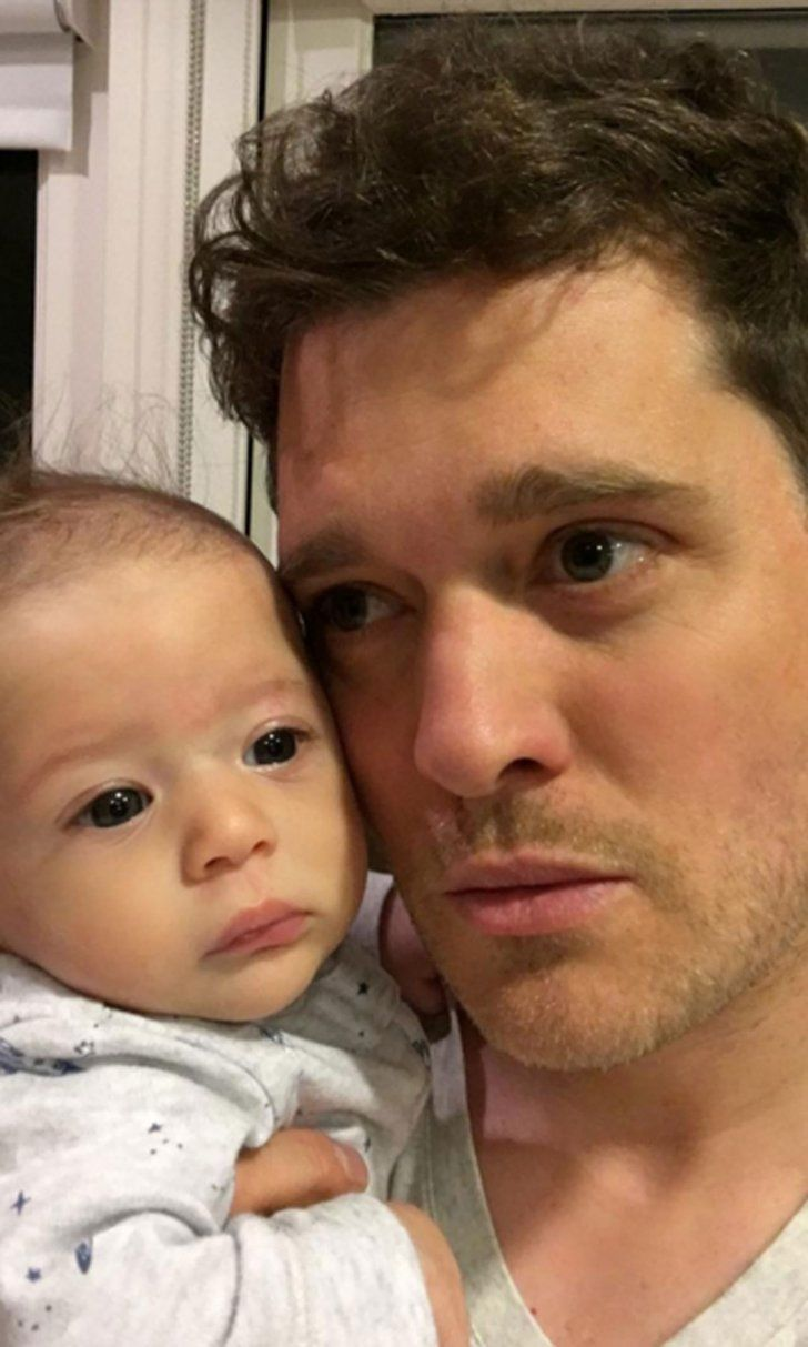 Michael Bublé Cuddles With Son Elias in This Precious New Photo
