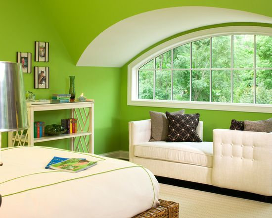 Best Lime Bedroom With Green Walls Design Ideas Remodel Pictures Houzz