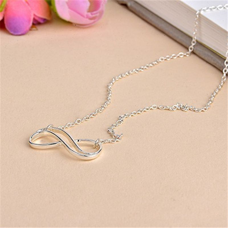 Fashion Stripe Of Eight Necklace Infinity Symbol Necklace Clavicle