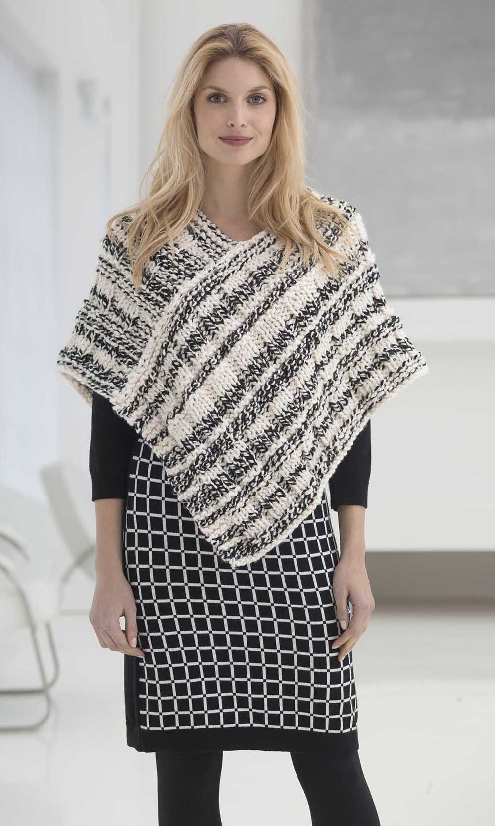 Poncho in Lion Brand Wool-Ease Thick & Quick - My Christmas Break ...