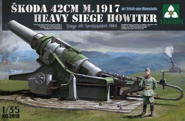 Model Takom 2018 ciężka haubica Skoda 42cm