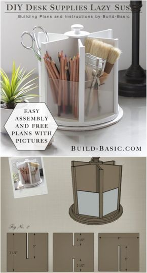 21 Awesome DIY Desk Organizers That Make The Most Of Your Office Space -   18 diy Room organizers ideas