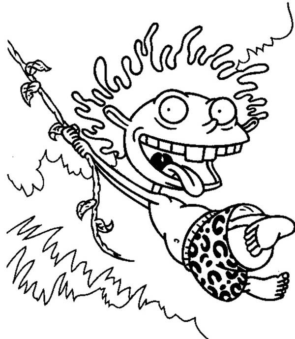 Donald Swing From One Tree To Another In The Thornberrys Coloring Page Coloring Sun Coloring Pages Coloring Books The Thornberrys