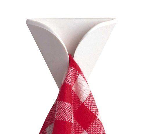 kitchen towel grabber. interdesign self-adhesive towel grabber, white, set of 2 $3.33 kitchen grabber t