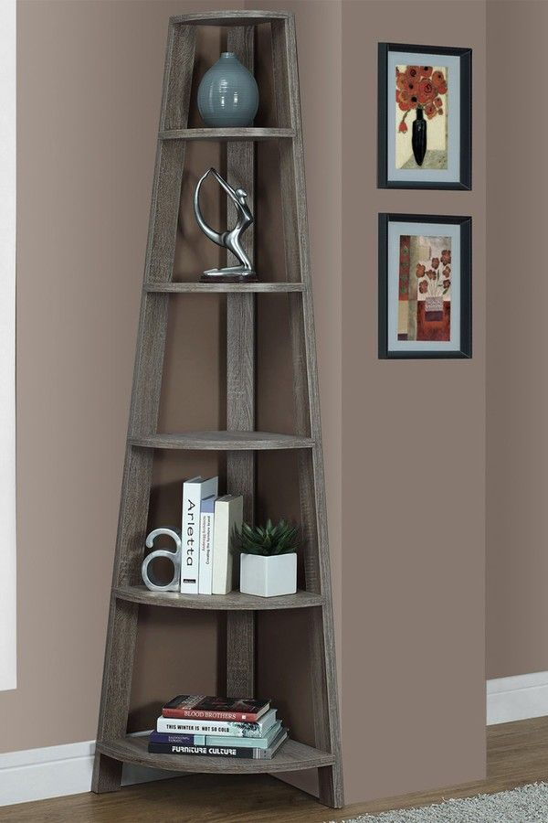 Monarch Specialties Taupe Bookcase