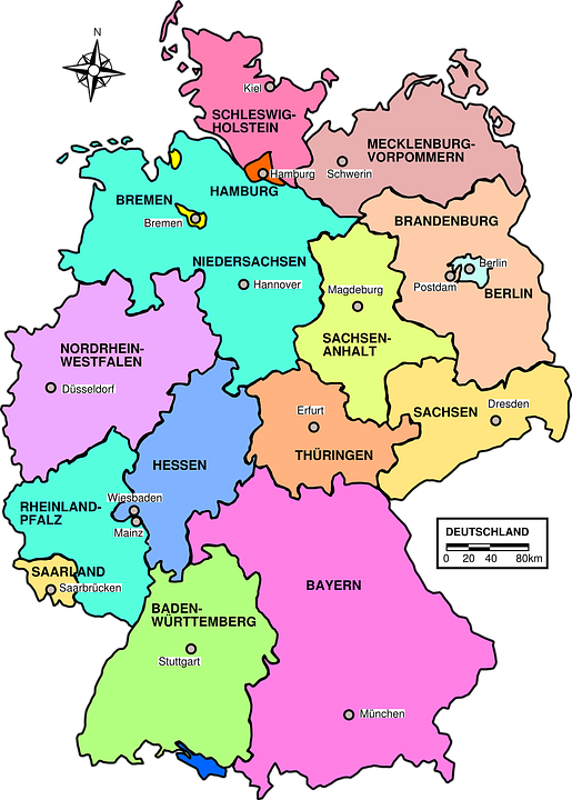 koblenz karte deutschland Free Image on Pixabay   Germany, Map, Political, Regions