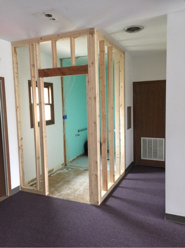 We Have Our Building Permits Demo Of Walls Carpeting And Old Front Desk Starts Tomorrow We Will Keep You Updated On The Bu Building Permits Home Mukwonago