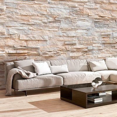 Details zu Vlies Fototapete Steinoptik Tapete Stein Wand - schöner wohnen tapeten wohnzimmer