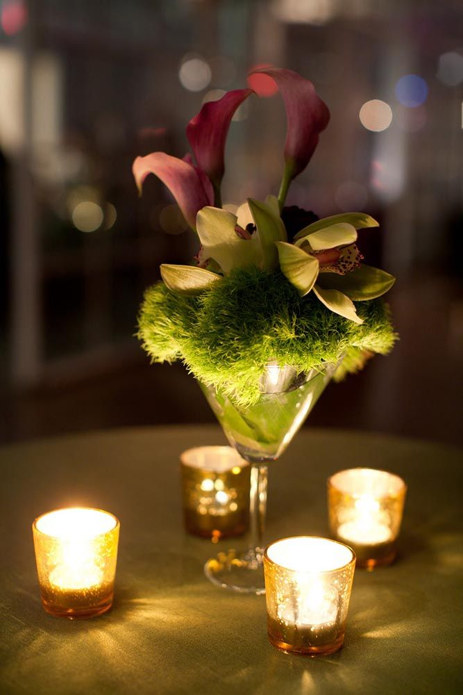Adorable #martini Glass #centerpiece