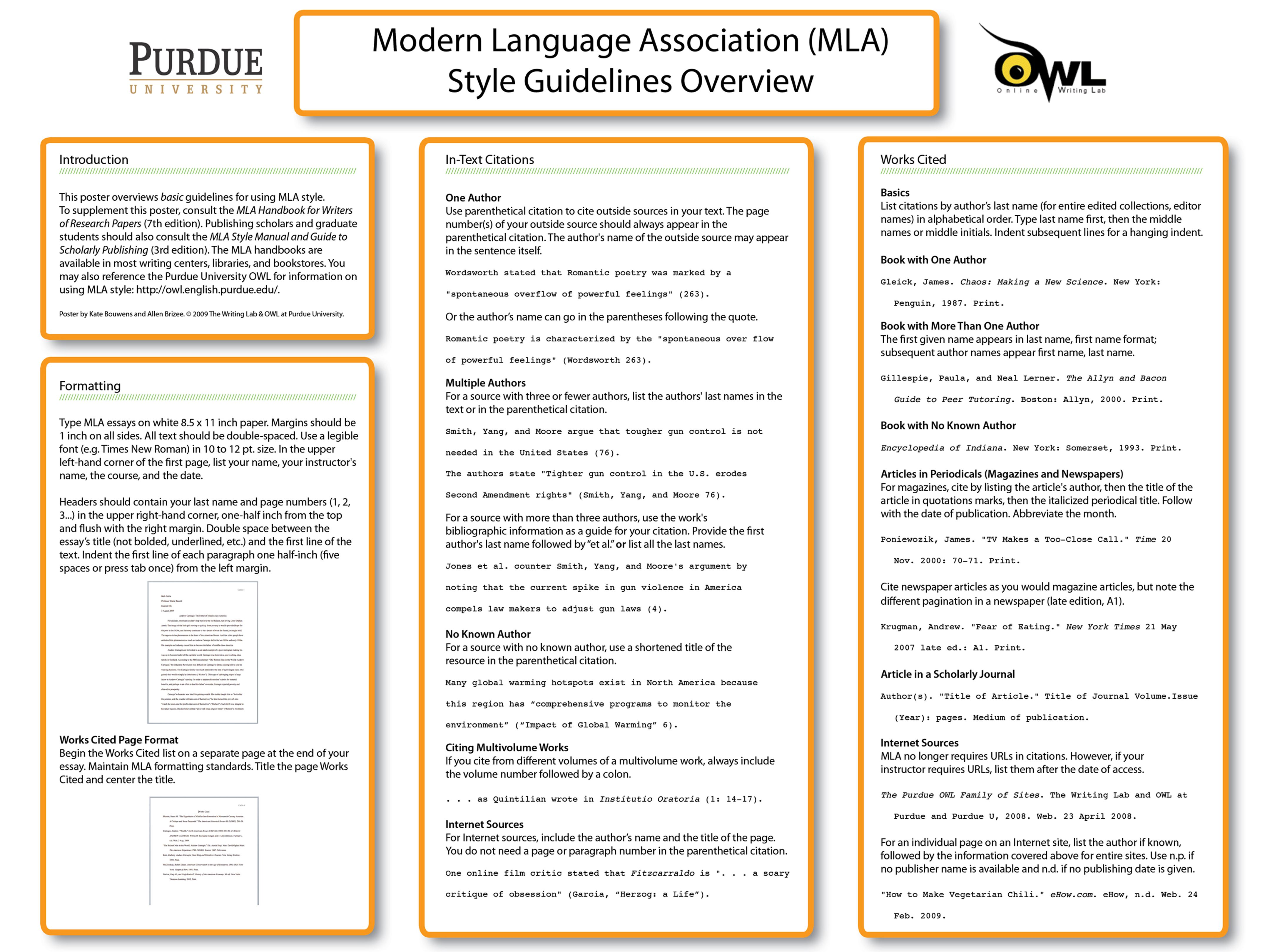 the purdue owl mla classroom poster teaching stuff 2014 owl online writing lab is one of my favourite academic resources i often have recourse to when working on research papers