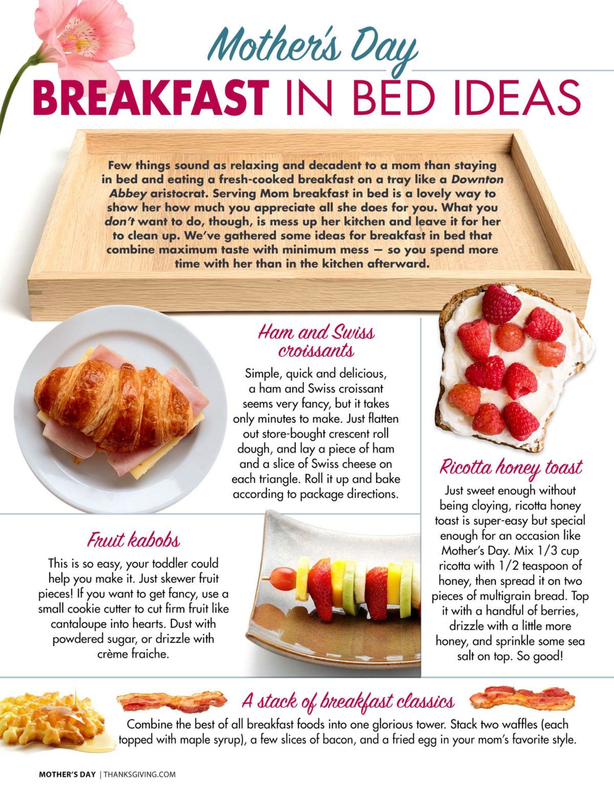 Mother S Day Breakfast In Bed Ideas And Recipes Mothers Day Breakfast Mom Breakfast Breakfast In Bed