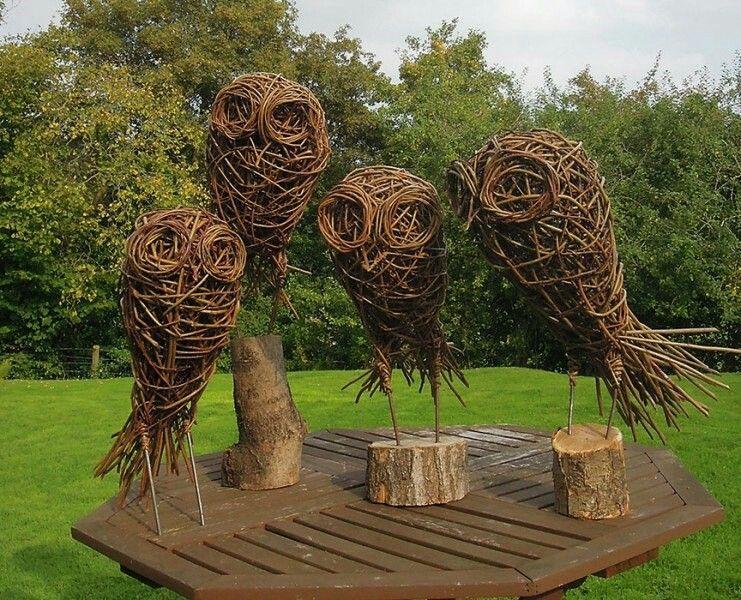 Pin By Handmadewise On Baskets Sculptures Willow Garden