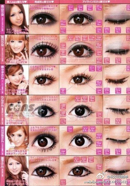 Japanese Eyes Makeup So Different And Pretty Gyaru Makeup Eye