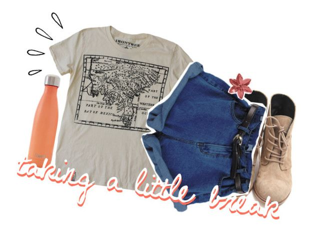 """""""taking a break"""" by cumfygurl ❤ liked on Polyvore featuring S'well and Old Navy"""