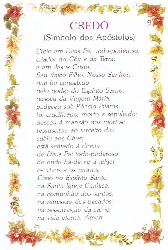 Super Oração do credo | Prayers | Pinterest | Jesus prayer, Thoughts and  SG06