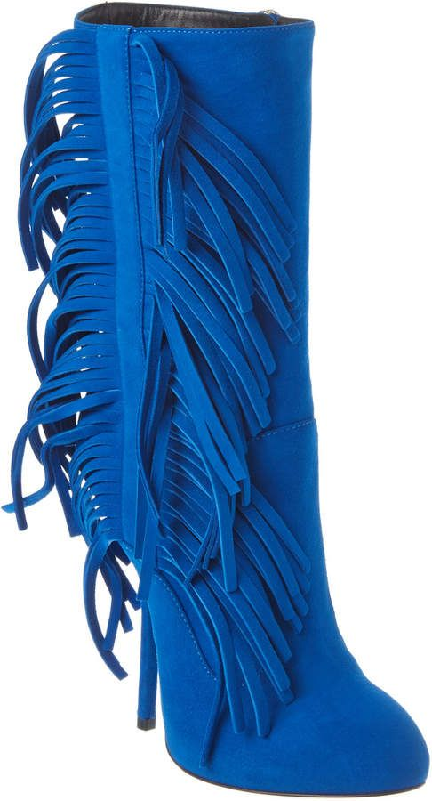 bb2075bfa35a5 Giuseppe Zanotti Fringe Suede Boot in 2019 | Products | Giuseppe ...