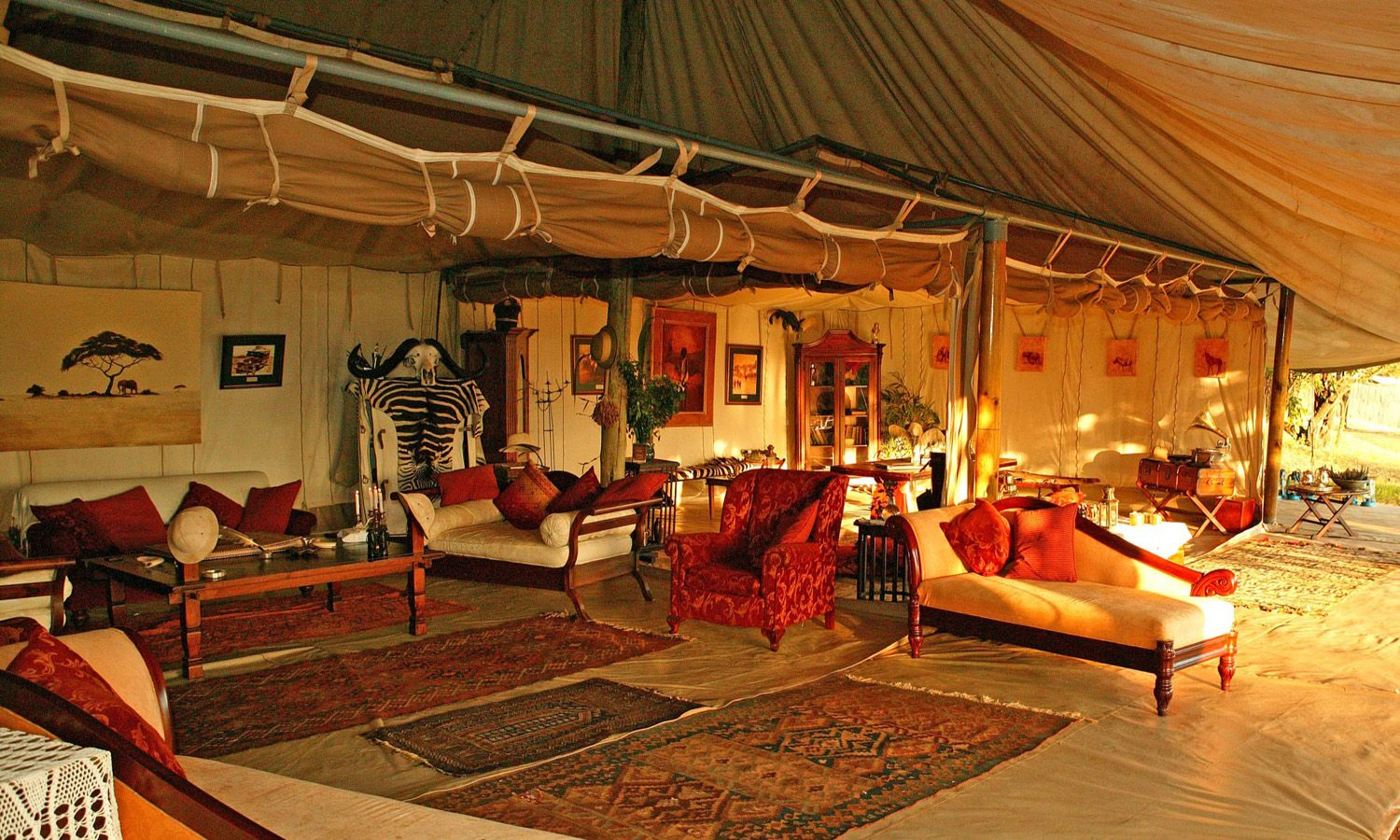 Ar $1000+ per night, I think I'll just use the inspiration for my deck, and keep dreaming. Wow. #Safaristyle  Cottars 1920s Camp Gallery - Cottars Safari Service