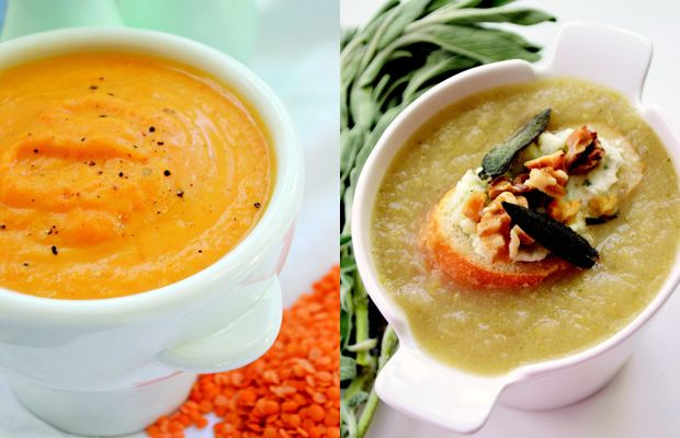 Soups with apples, sweet potatoes and artichokes to warm your heart