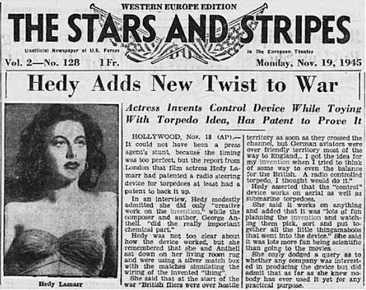 Image result for hedy lamarr inventions