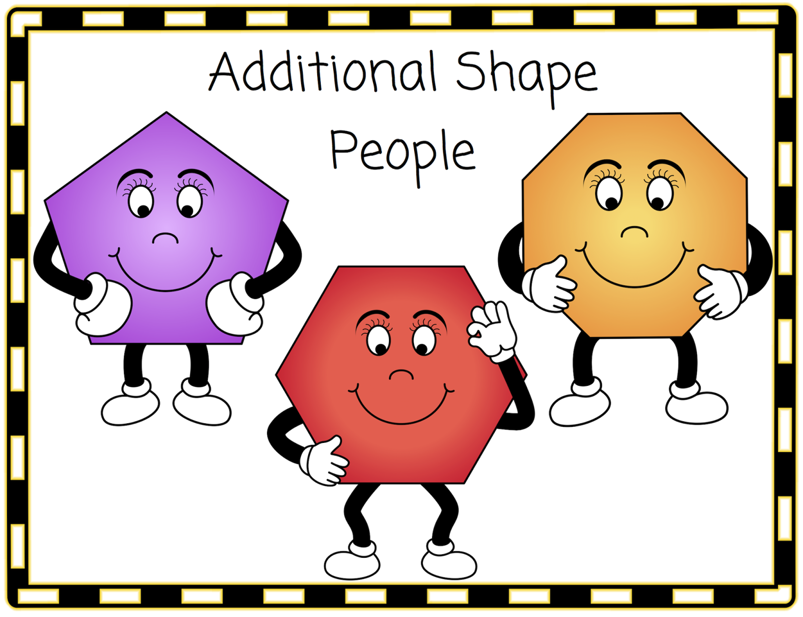 Three Additional Shape People