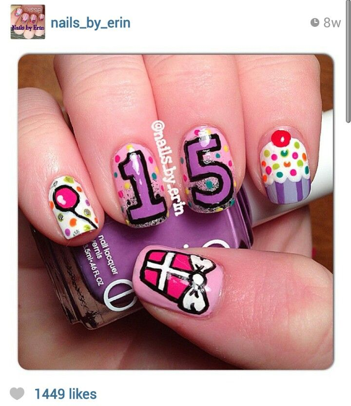 Birthday Nails Pinning for the gift idea Nail Art Pinterest