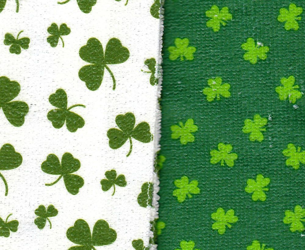 2 Kelly Green Shamrock Kitchen Bar Irish Ireland Towels St ...