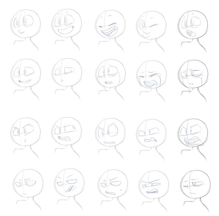 Art Ch 3 Drawing Expressions Expression Sheet Drawing Base