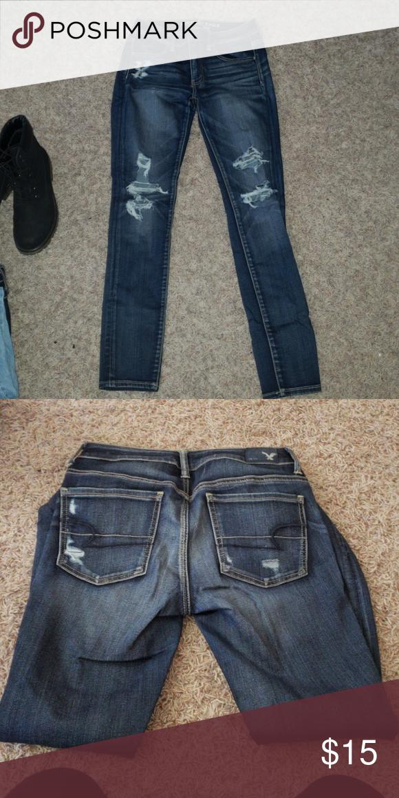 406739275f4a4 Dark wash skinny Jean's