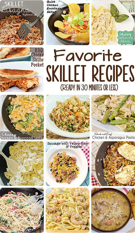 Favorite Quick and Easy Skillet Meals: I will definitely be adding these to my dinner rotation for busy nights! #skilletrecipes