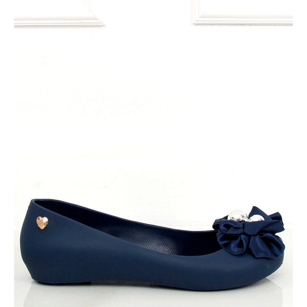 Balerinki Meliski Z Kokarda Niebieskie Ck 86p Blue Shoes Flats Fashion