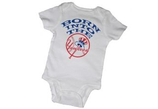 BORN INTO THE YANKEES BABY ONESIES & TOT TEES. I must have these for my lil guys we are Yankees!!