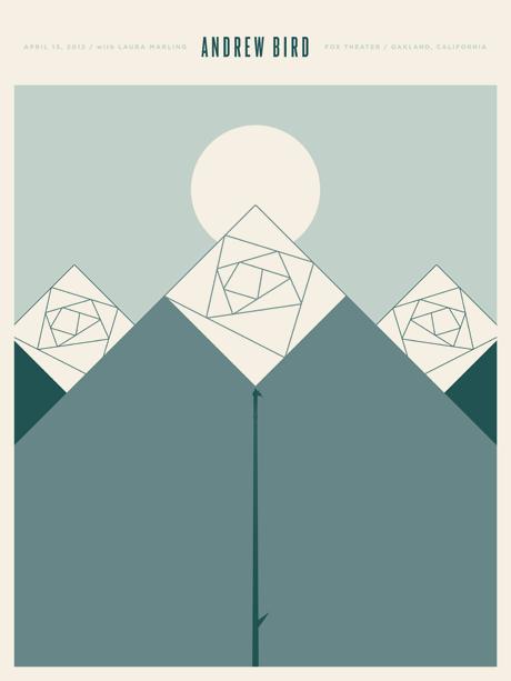 Andrew Bird California concert poster by Jason Munn