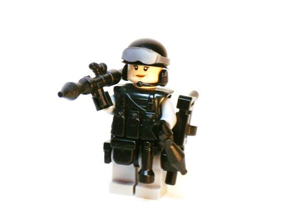 Female Military ARMY SWAT Custom Figure made with LEGO and Custom ...