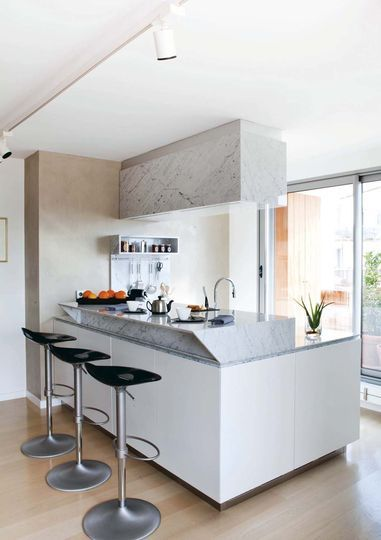 Cuisine actuelle et contemporaine avec ilot pratique Kitchens - plan maison avec cotation