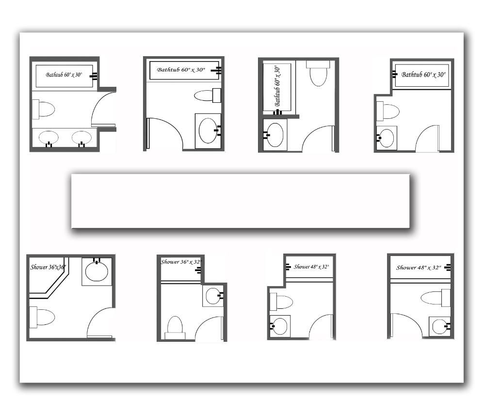 Bathroom layout dimensions - 7 Beautiful Bathroom Layouts And Designs Size Bathroom