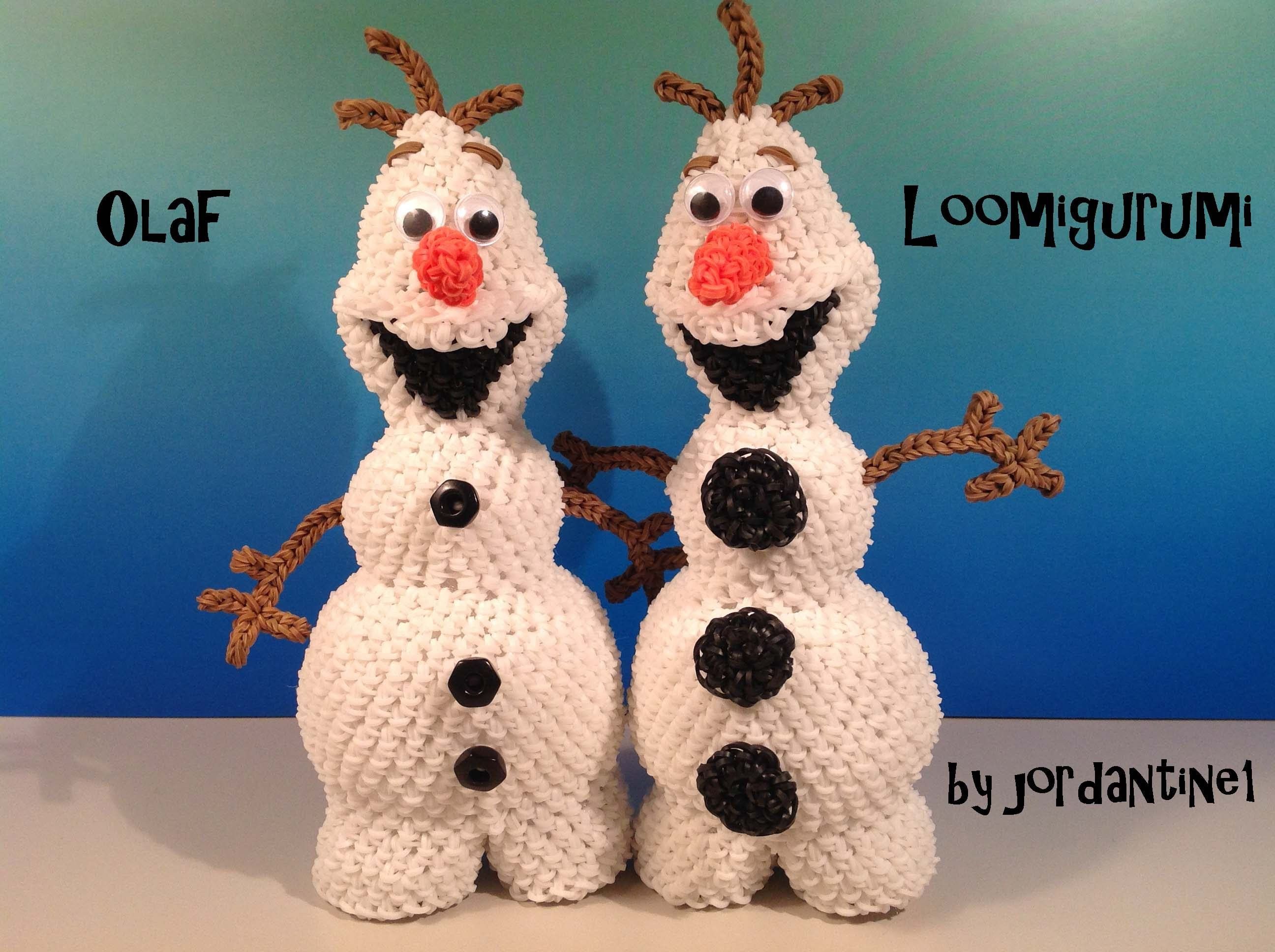 Amigurumi Loom Patterns : Olaf loomigurumi amigurumi frozen snowman part 2 rainbow loom band