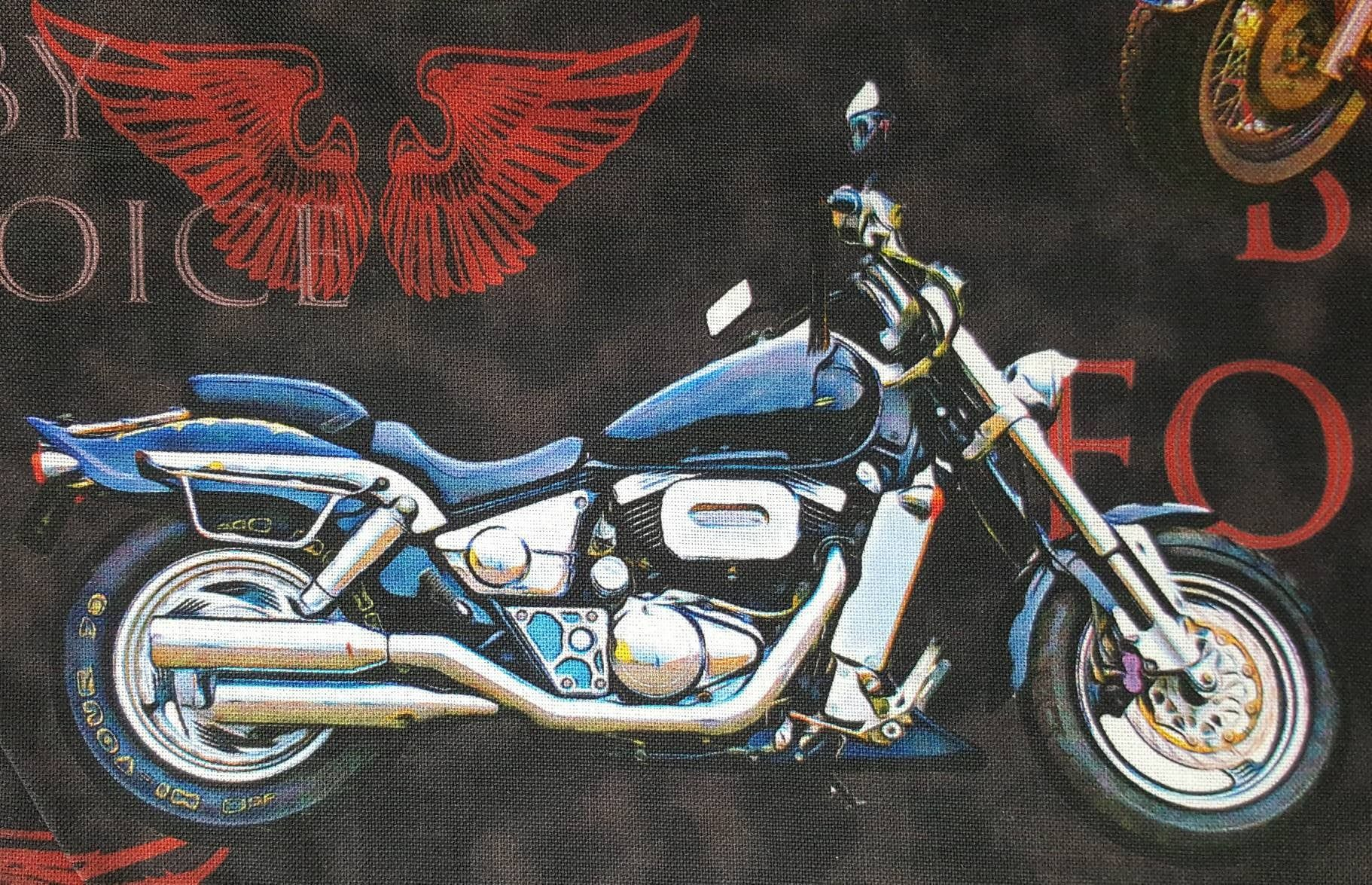 100 Cotton Quilting Fabric Priced By 1 2 Yard Motorcycle Cruiser Harley Davidson Honda Kawasaki Yam Big Dog Motorcycle Harley Davidson Dyna Harley Davidson