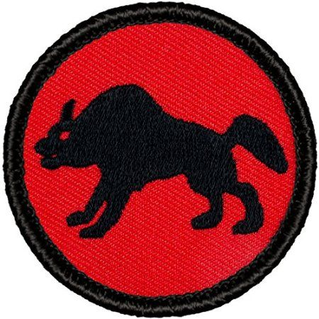 "Retro Hyena Patrol Patch - 2"" Diameter Round Embroidered Patch"