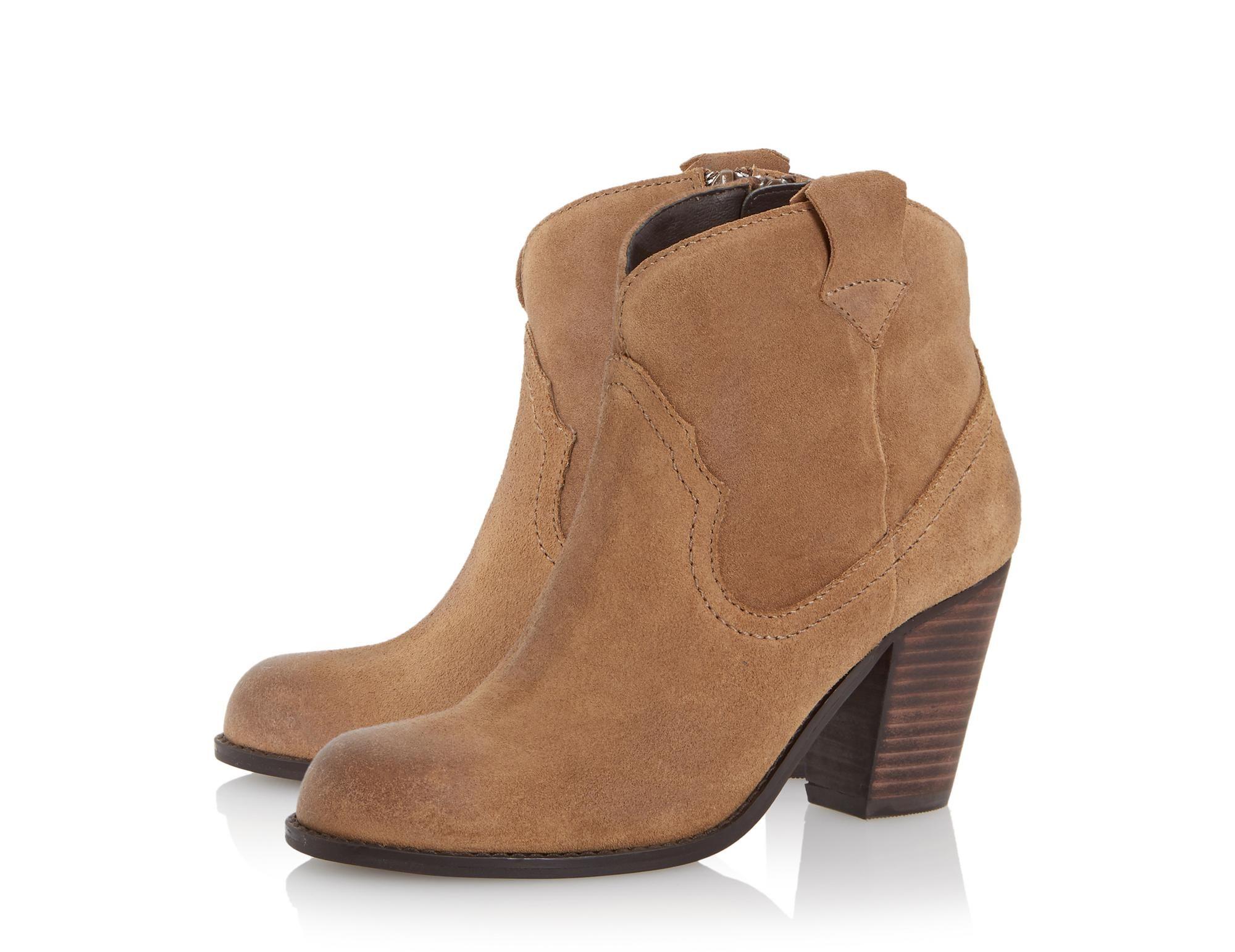 ff3f1506e69 Roberto Vianni Ladies PEGASUS - Suede Western Ankle Boot - tan | Dune Shoes  Online