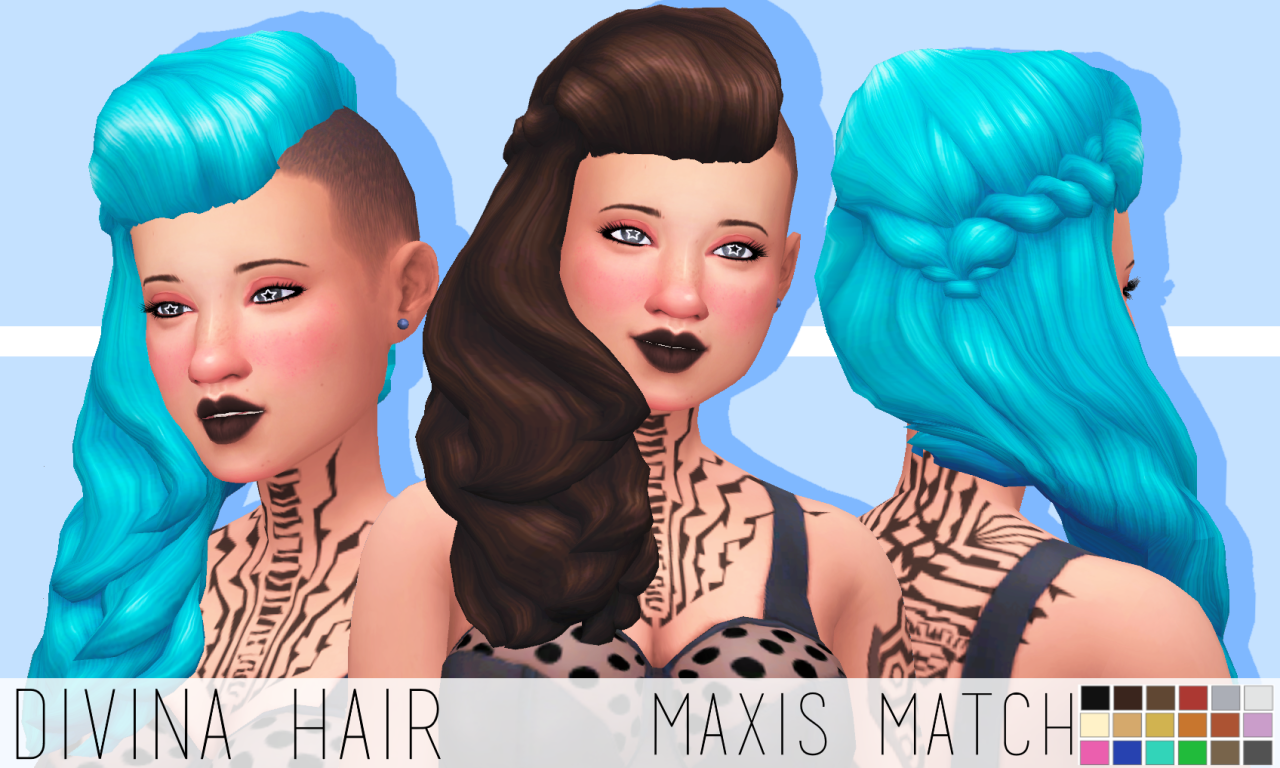 Sims 4 CC Finds - chocolatemuffintop: DOWNLOAD DIVINA HAIR
