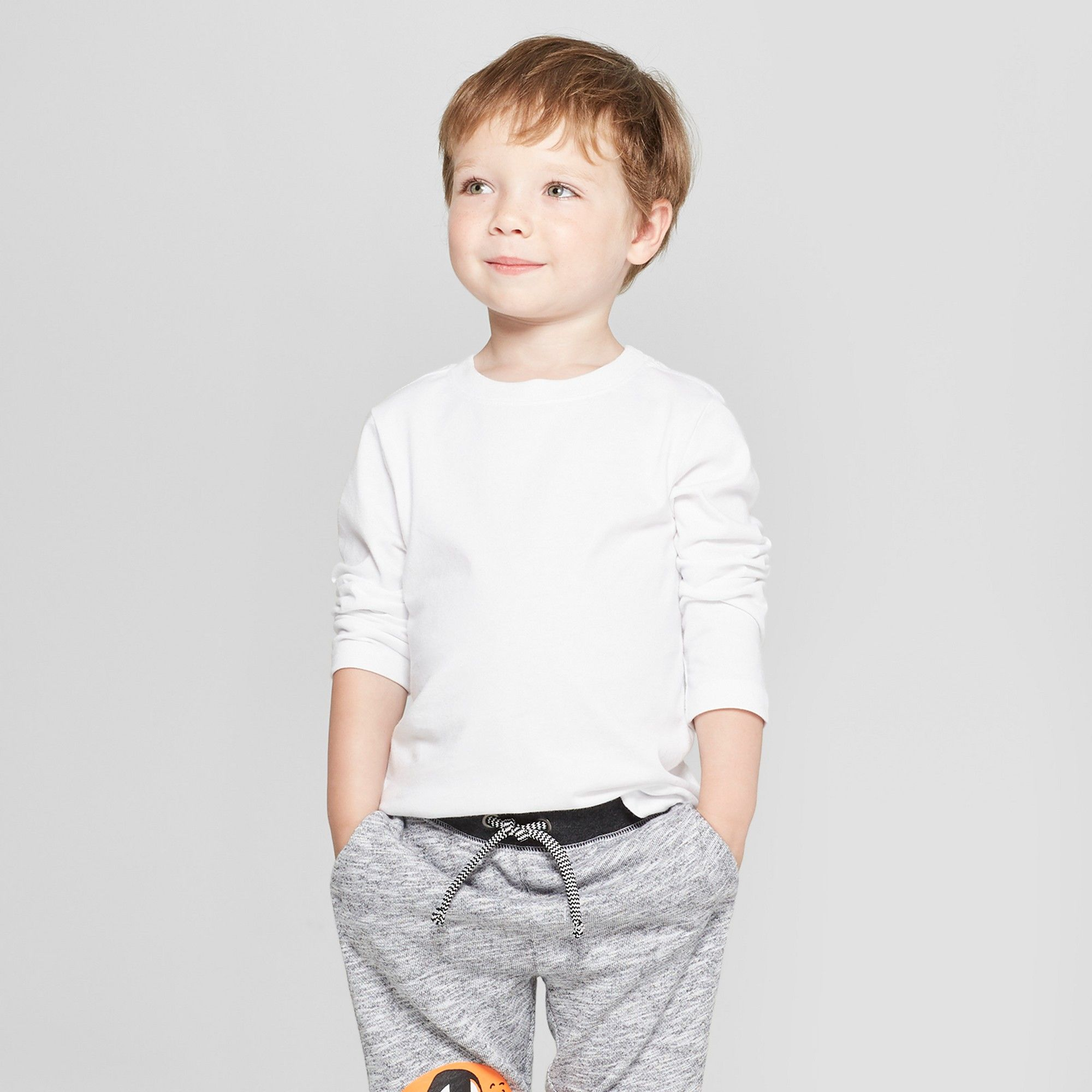 930f5123 Toddler Boys' Long Sleeve T-Shirt - Cat & Jack White 12M | Products ...