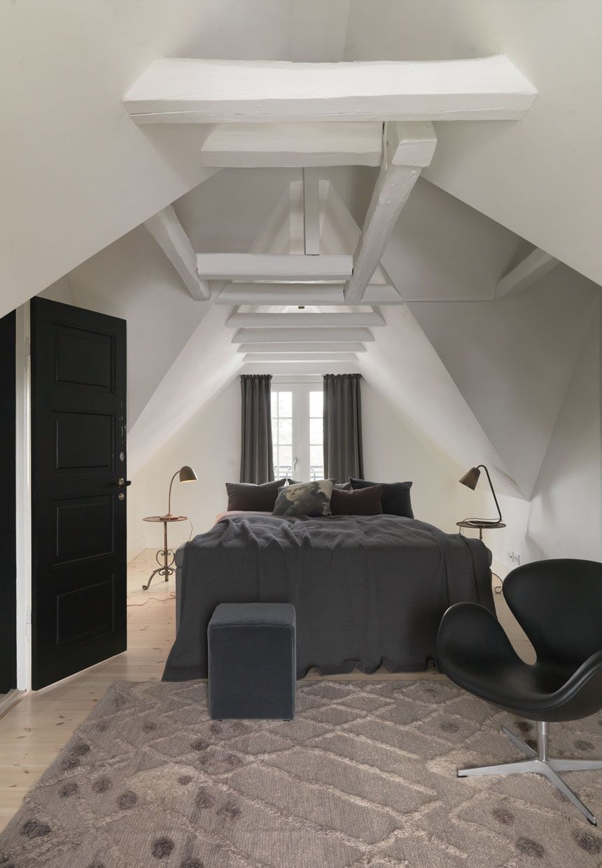 Loft bedroom style  Attic bedroom  Bedrooms  Pinterest  Attic bedrooms Attic and