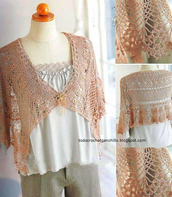6 Patrones de Capas Crochet + Tutorial en video | Todo crochet ...