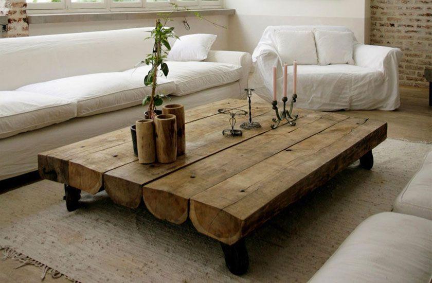 Table Rustique En Bois Artdco Table Rustique Table De Salon Table Design
