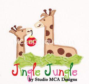MCA - Jingle Jungle Giraffes w/ Ornament Applique.
