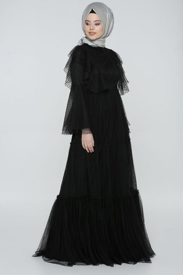 Tullu Uzun Siyah Abiye B2 Ara 130474 Kapida Odemeli Ucuz Bayan Giyim Online Alisveris Sitesi Modivera Com Ucuz Tesettur Abiye Siyah Abiye Giyim Islami Giyim