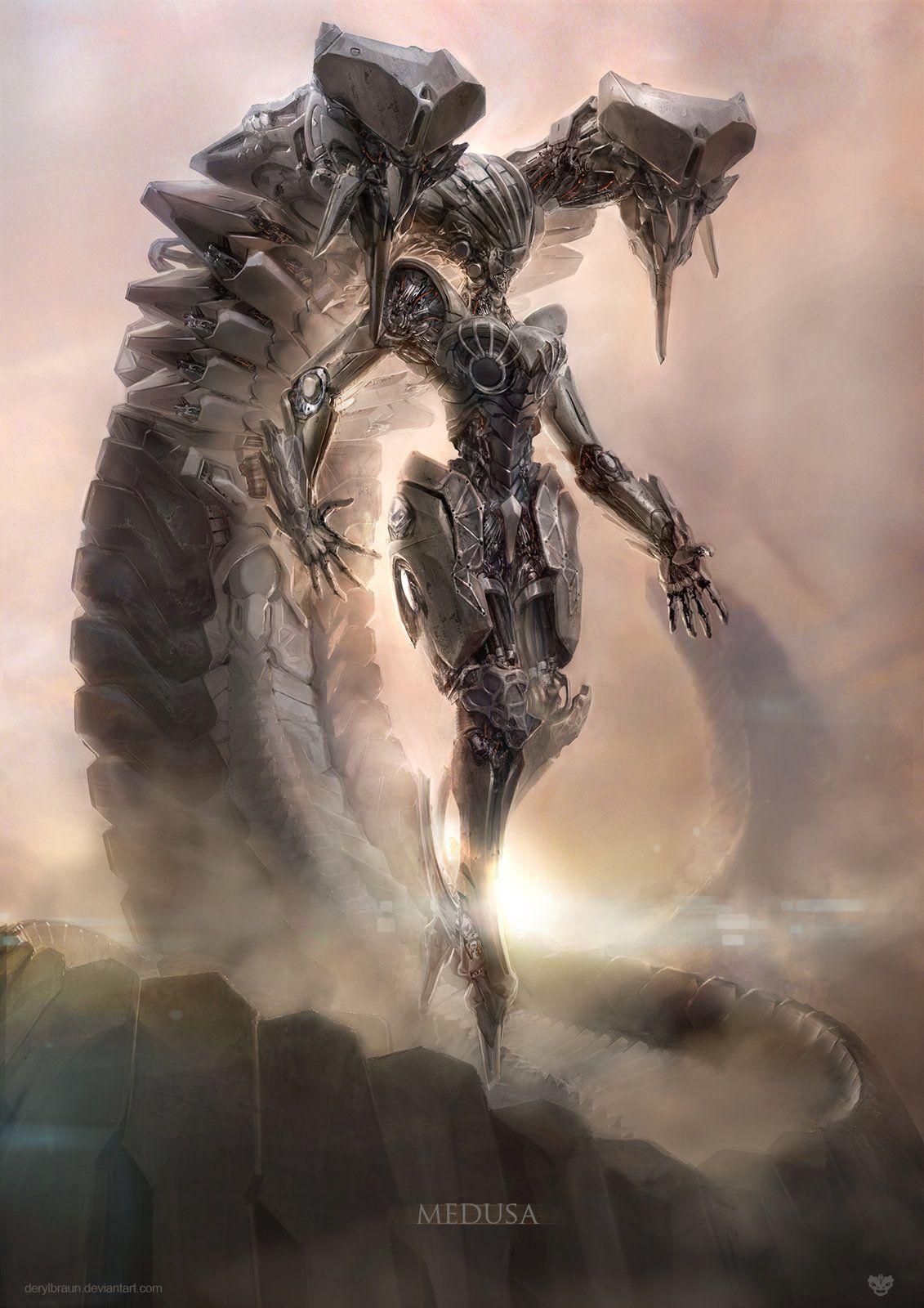 Medusa, Deryl Braun on ArtStation at https://www.artstation.com/artwork/medusa-a9f3df9f-eddc-4703-aac2-027ddc914b09
