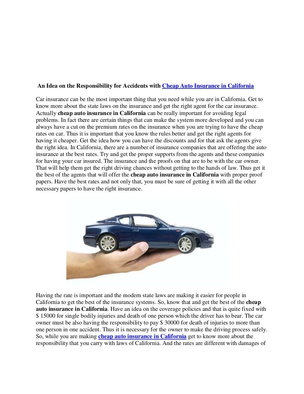 Cheap Auto Insurance In California 22848838 By Becky Dowdell Via