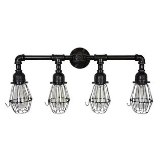 Motief  Edison Era Vanity Light  Give Your Bathroom A Feeling Of Gorgeous Industrial Bathroom Light Fixtures 2018