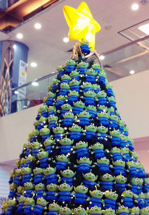Aliens Christmas Tree Disney Christmas Tree Disney Christmas Decorations Toy Story Alien